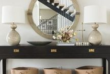 ENTRYWAY & FOYER IDEAS / Beautiful entryway and foyer decor ideas, vignette inspiration and table styling ideas that create a sophisticated, welcoming look and feel in your entryway area!