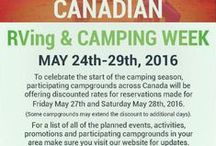 Canadian RVing and Camping Week / From Tuesday, May 24th to Sunday, May 29th campgrounds across Canada will help raise funds for Make-A-Wish® Canada.  i) Purchase an LED Wish lantern at participating campgrounds with proceeds benefiting Make-A-Wish® Canada.  ii) On Saturday, May 28th at 10 p.m. (local time) campers will gather, make their wish and shine their light for Make-A-Wish® Canada.