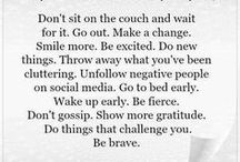 Food for Thought / Inspirational thoughts for everyday life.