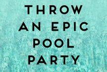 Pool Party | Beach Birthday / #party #birthday #pool #beach #sea #nautical #luau #tropical #tiki #theme #water  / by Terri Bruell