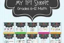 LisaTilmon's Math TpT Store / Here's your one-stop shop for all math resources in my TpT store. Be sure to click on pins of interest and download the PREVIEW for a sneak peek of each classroom-tested product. Inspiration guaranteed.