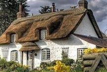 """""""Little Daffodil Cottage On The Farm"""" / by Margaret Darby"""