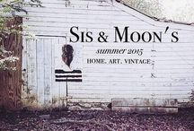 Sis & Moon's / A quaint shop that houses local artists.. unique home & vintage finds.. You can find me here daily. / by Chris Vogt -Tamisin