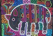 Molas / Kuna Indian Artwork from Panama originally used for clothing.