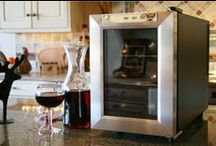 Wine Coolers / A glass of wine available at your finger tips from a wine fridge. http://www.air-n-water.com/wine-cellar.htm / by Air-N-Water.com