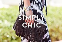 SIMPLY CHIC / Explore stylish new cuts, drapes and proportions against of clean palette of black, white, blue and brown.