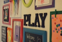 Play Room Decor / Don't just stick the toys in a room - create a fun and functional play room to inspire creativity and fun