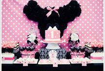 Disney Minnie Mouse Birthday / Have a little girl who loves Minnie Mouse? Celebrate her special day with a Minni Mouse themed birthday party and use these pins for inspiration for decorations, favors, cakes and more.