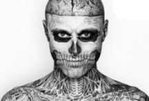 zombie boy / just fascinated...  underneath the freakshow his eyes shine through / by Flor Lopez