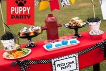 Puppy Themed Birthday Party / Woof woof! Have a little one who loves puppies? Give them a puppy dog themed birthday party and look here for inspiration for fun decor, treats, cakes and more!
