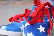 DIY 4th Of July Crafts. / Plan your next 4th of July party ideas today! We've got all the red white & blue crafts, fourth of July recipes, and 4th of July decor you need to celebrate independence day right.