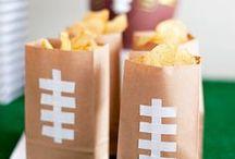 Super Bowl Crafts / football DIY ideas • super bowl activities • super bowl party ideas