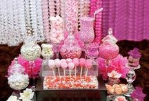 Wedding Dessert Bar and Candy Buffet / Besides the Bride & Groom, the stars of many wedding receptions are the desserts. A table of wedding cake and sweet treats will really excite attendees. Here are some ideas to help you create yours!