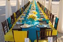 Wedding Reception Tablescapes / Your wedding reception tables are a chance to show off your wedding colors in a big way. We hope you will find inspiration and ideas from the many photos we have curated for you.