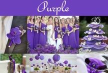 Purple Wedding Ideas and Inspiration / Purple is a favorite wedding color! We hope you find ideas and inspiration from our curated photos.