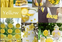 Yellow Wedding Ideas / A yellow color pair creates an fresh and cheerful feel. Check out our board below for some playful yellow inspiration.