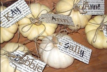 "White Pumpkins for Wedding Decor / White pumpkins are all the rage this year. They incorporate more of a ""classy"" & ""chic"" look when decorating for autumn. A great way to make your autumn-season wedding absolutely fabulous!"
