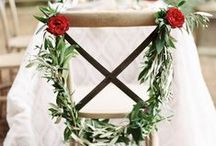 Chair Streamers and Décor for Weddings / Ribbon has always been a huge part of wedding decorating. This is great for adding to the groom and bride's chairs...or anyone & everyone's! There are many spectacular colors and types of ribbon to choose from. Have fun with it!
