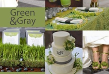 Green Wedding Ideas and Inspiration / Eye-popping lime green can be perfectly subdued when paired with monotone shades of gray.  This color scheme is perfect for the bride-to-be who is looking for something trendy, cool, and sophisticated with a kick of color.