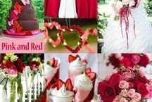 Pink & Red Wedding Ideas and Inspiration / Red, a symbol of love, is a beautiful color for a wedding celebration. While pink, depending on the shade, can fit perfectly almost any time of year.