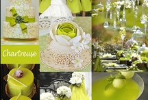 Chartreuse Wedding  / Chartreuse is a unique color ... not quite green ... not quite yellow but it is stunning nonetheless It pairs well with many colors including gray, purple and navy.