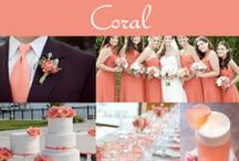 Coral Wedding Ideas / Coral is popular color that can be used in just about any season. There are many colors to pair coral with for just the right touch!
