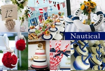 Nautical Wedding Ideas / Nautical colors typically are red, white and blue and often the addition of a pop of yellow.