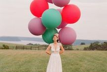 Giant Balloons for Wedding Décor / Giant Balloons! What a festive addition to your wedding! They can be used for photo props, ceremony décor, reception décor and more!