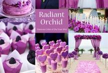 Radiant Orchid Wedding / Radiant Orchid is Pantone's Color of the Year for 2014! It's a perfect color for a wedding! [Pantone 18-3224]