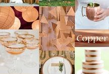 Copper Wedding  / Copper is a unique wedding color that works well with teal and many other colors.