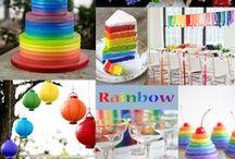 Rainbow Wedding / A rainbow wedding can work but you just need the right touch to keep it classy!