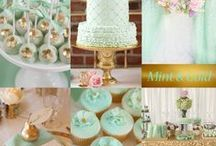 Mint Green Wedding / Mint Green is a wedding color that can be paired with pink, gold, blue and more to create a lovely wedding palette.