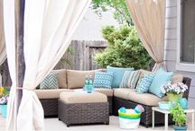 Outdoor living / Patio furniture, pools, and outdoor structures / by Pat Ahrens