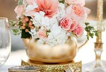 Style: Peach and Gold Wedding