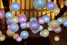 Hanging Paper Lanterns / Paper lanterns look fab in all sorts of party or wedding venues. Ivory hanging lanterns work well in spaces with exposed wood or brickwork, whilst our extra large paper lanterns look perfect in a farm barn, theatre or industrial unit!