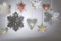 Christmas and Winter Weddings & Events / Don't go for traditional baubles and tinsel at Christmas! Use our stunning intricate Christmas decorations designed to wow your guests and cast festive shadows at any winter wonderland wedding or festive corporate event. Our unique Christmas decorations have been designed and hand crafted by us in our Sussex laser studio in a range of complementary colour schemes including traditional reds and greens, sparkling whites and blues, and bold purples and golds.