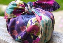 Scarf bags / scarf bags, furoshiki bags, ideas, DIY, etc.