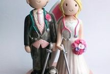 Wedding Cake Toppers / A collection of ceramic cake toppers from Atop of the tier, made to match you on your special day