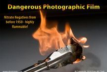 Dangerous Film / Nitrate Film - Fire Hazards if not managed well. Discover the difference between Nitrate, Acetate, and Poyester based film and negatives.