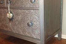 Metallic & Gray wash furniture