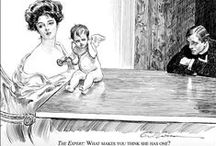 Gibson Girl Cartoons / The Gibson Girl was the star of many cartoons by Charles Dana Gibson. His brilliant 'Social Satire' of the early 1900s mirror many contemporary issues.