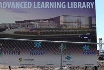 Wichita Library / The new Wichita Advanced Learning Library broke ground July 6, 2016, with a completion date in 2018. The progress of construction will be tracked in this board. All photographs by Gary W. Clark.(This board is the property of Gary W. Clark, and is not an official Wichita LIbrary project.)