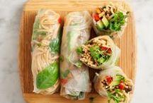 keep on rollin´ - food. / sushi, spring rolls, tortilla