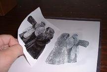 print - stamp - fabric -