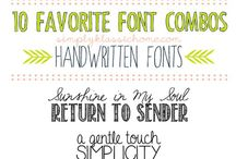 Fonts, Logos and Tipps