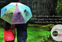 Hand painted umbrella by praratinc / Monsoon special