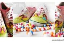 Hand painted Shoes by praratinc / football lover