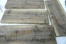 Weathering wood - anged wood / Weathering wood - anging wood