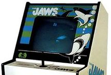 Shark Jaws - 1975 / An arcade game released by Atari under a pseudonym.