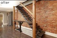 Stairs & brick walls / Stairs with exposed brick walls / Escaleras con muros y paredes de ladrillos vistos